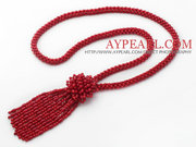 Red Coral Y Shape Tassel Necklace Is Sold At $25.98
